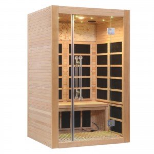 Two Person Infrared Sauna With Carbon Heaters