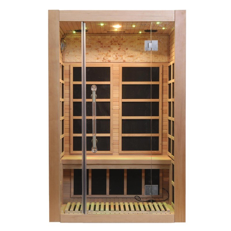 Two Person Infrared Sauna With Carbon Heaters Door Closed