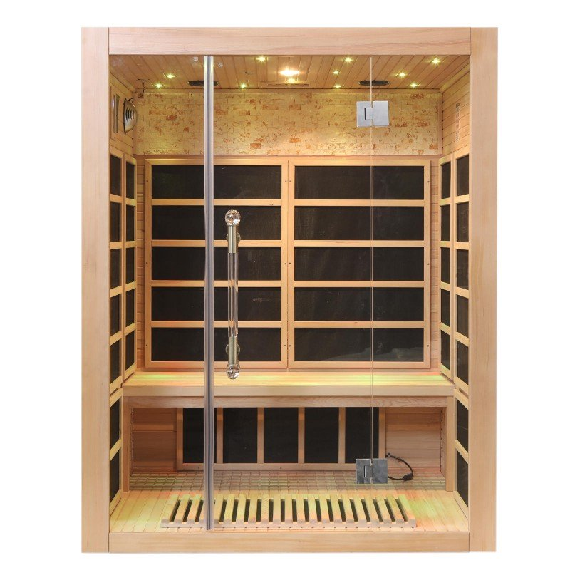 3 Person Infrared Sauna With Carbon Heaters