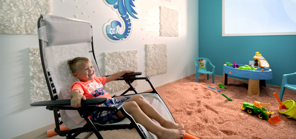 A child enjoying salt therapy - there truly are no age limits for this treatment.