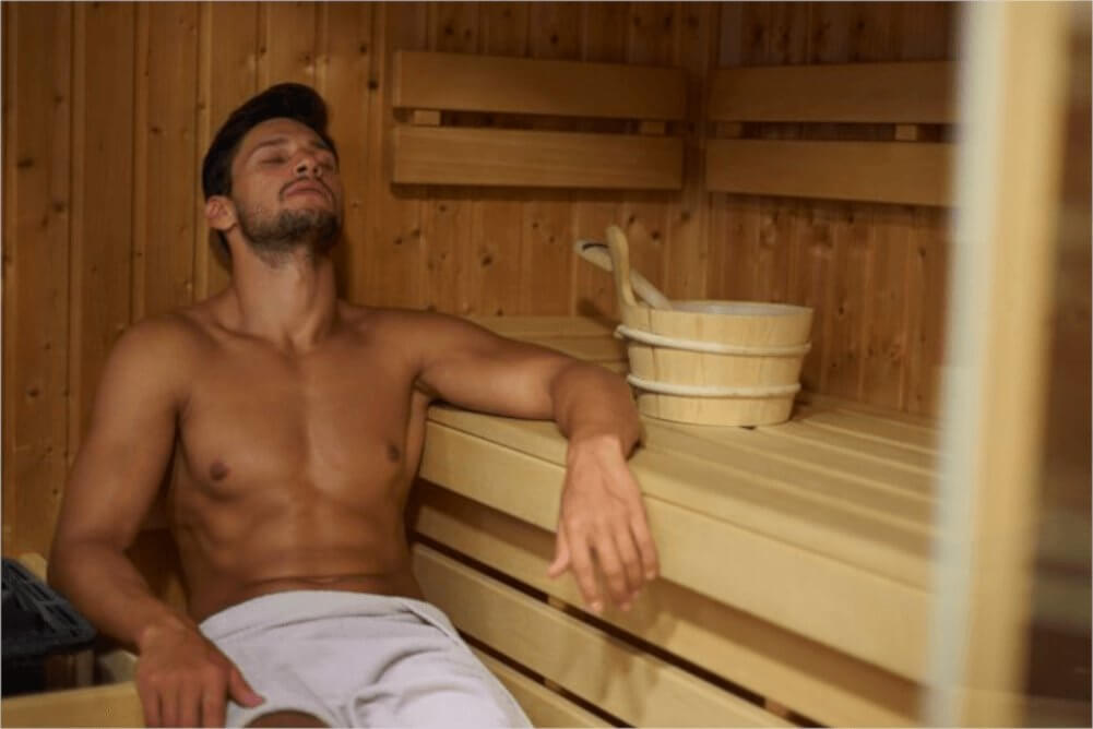 Saunas provide similar benefits and are a great alternative if there are no salt rooms/caves near you.
